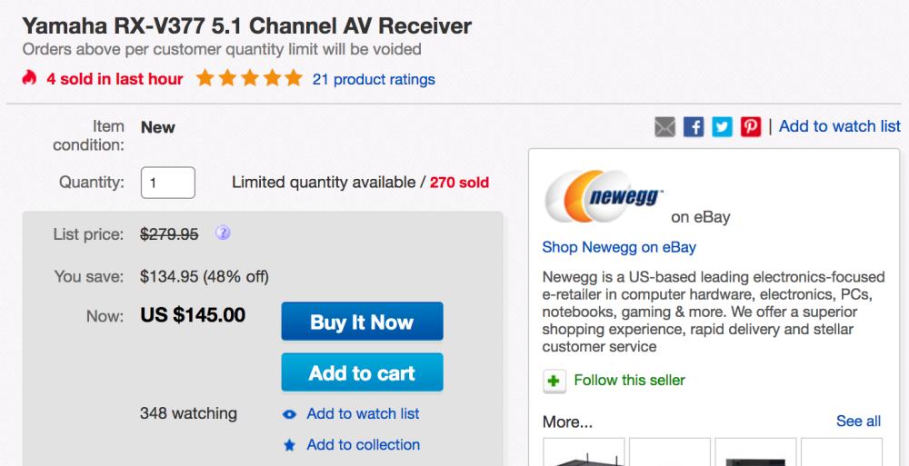 yamaha-av-receiver-ebay-deal