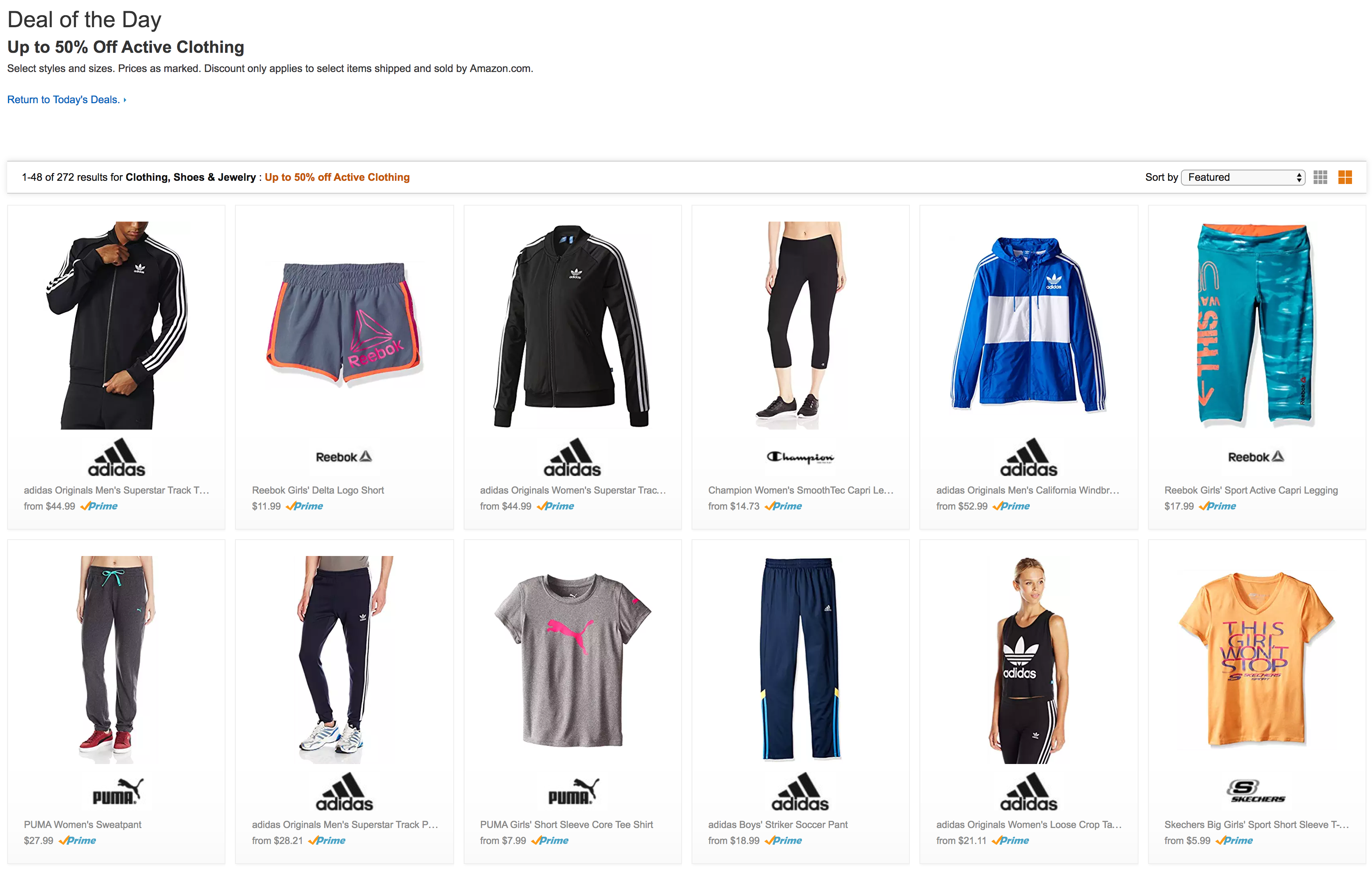 ecb7306873f77 Activewear from adidas, PUMA and more up to 50% off on Amazon today ...