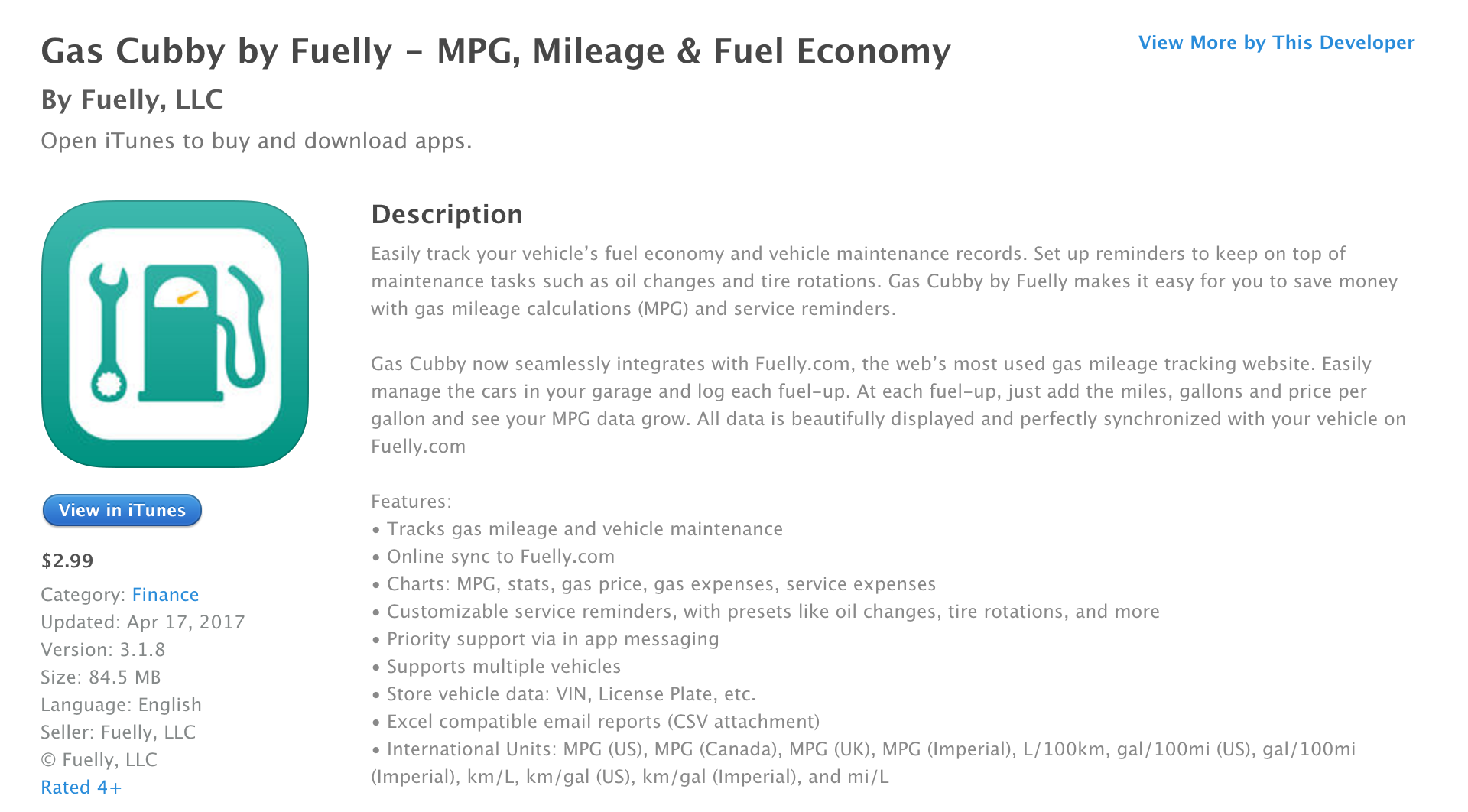 gas cubby by fuelly for ios helps take care of your car 3 50 off
