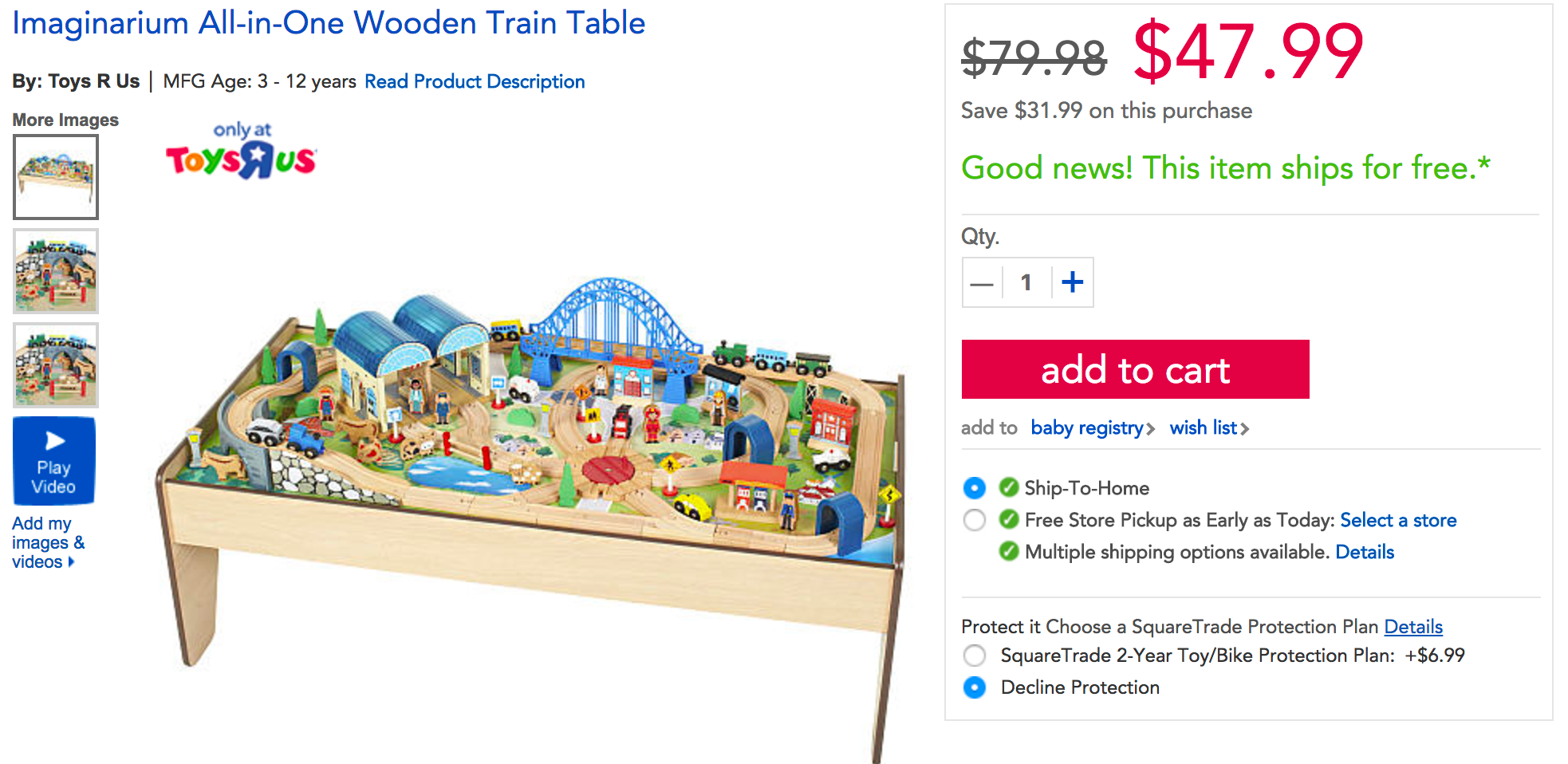 Imaginarium 100-Piece All-In-One Wooden Train Table for $48  sc 1 st  9to5Toys : imaginarium train set and table - pezcame.com
