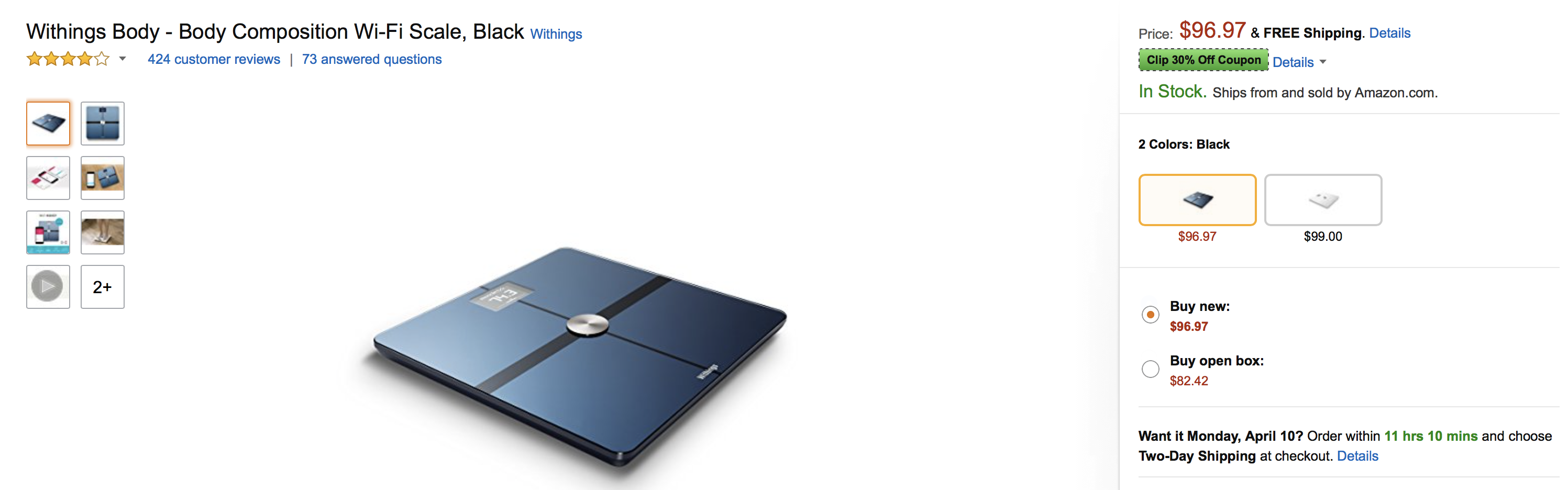 Withings Body Composition Wi Fi Scale Starting At 68 Shipped