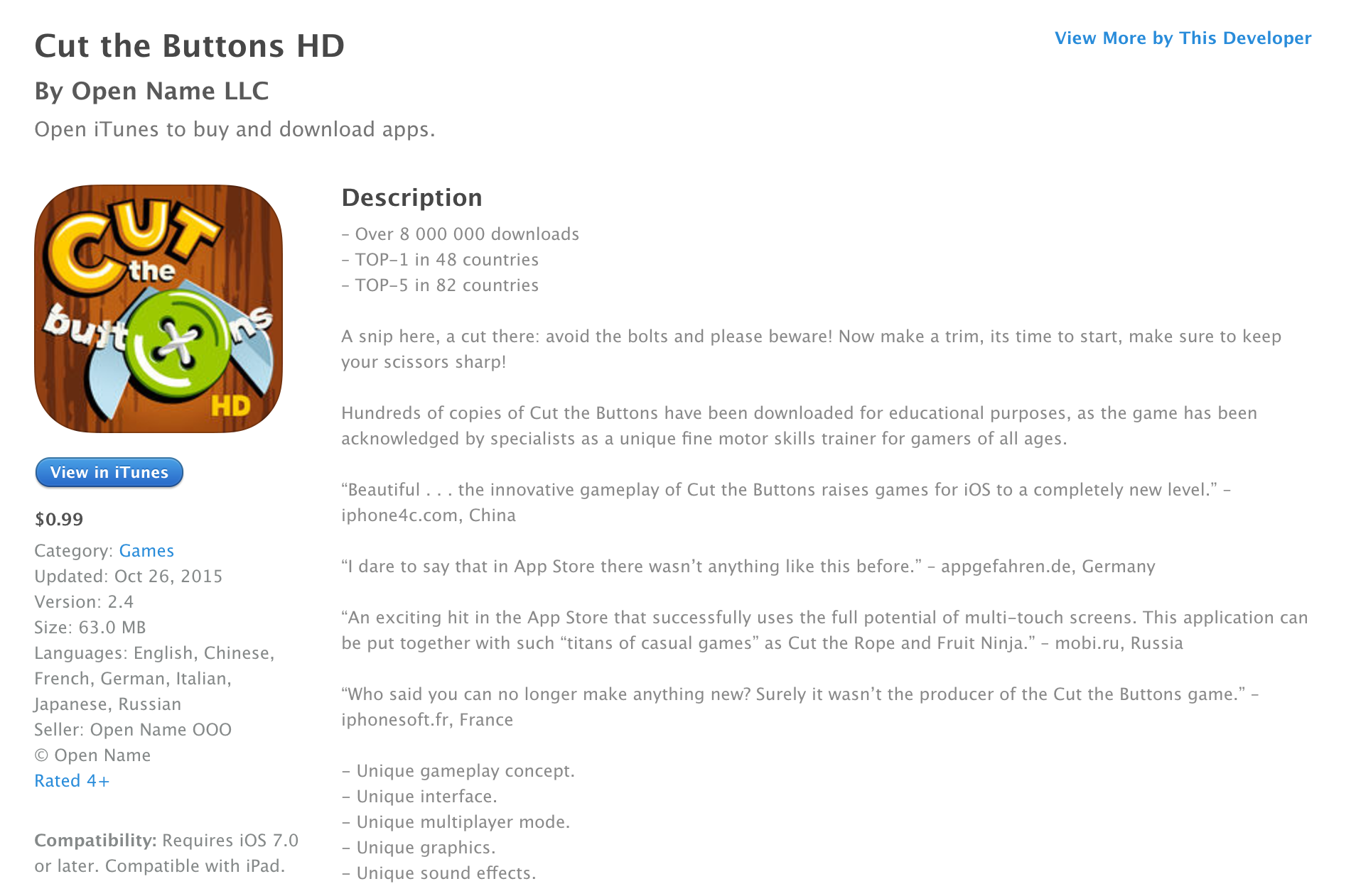 Cut the Buttons HD for iPad now just $1 on the App Store - 9to5Toys