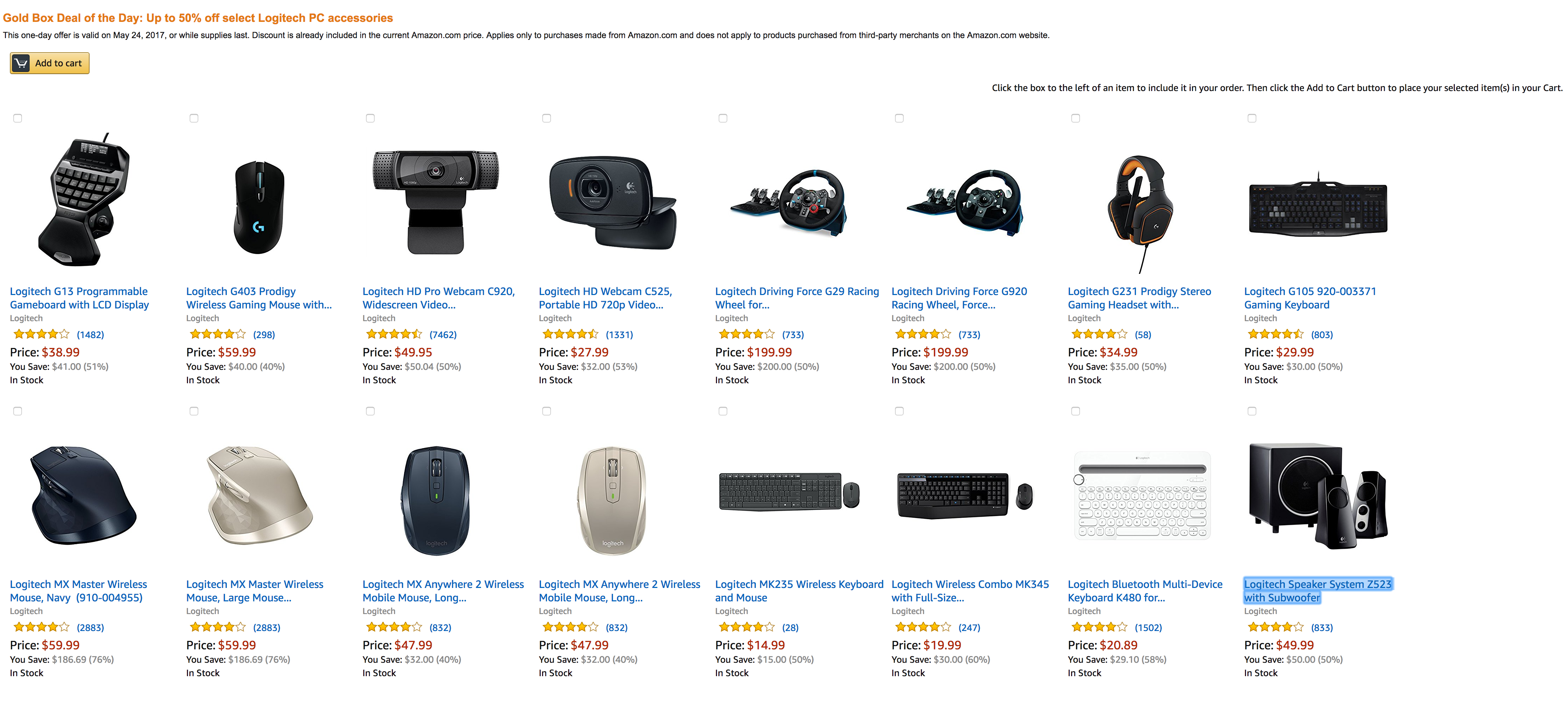 e01407b454a Amazon 1-Day Logitech Sale up to 50% off: keyboards & more from $15 ...