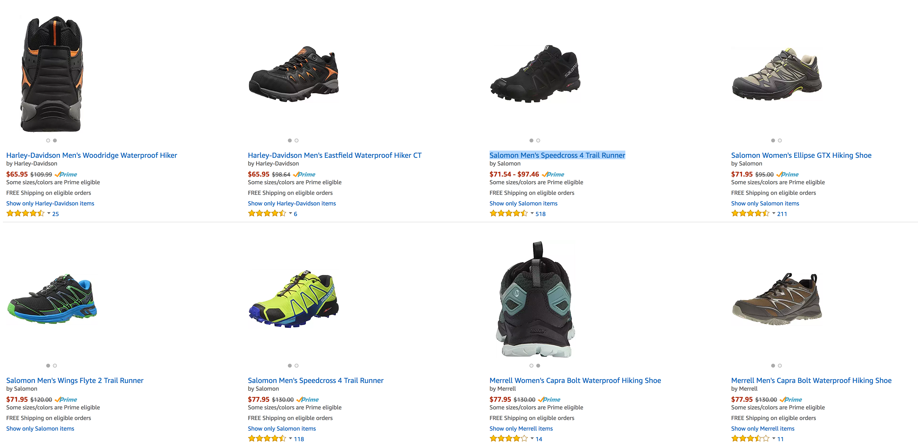 69af6d9dd1fbb Salomon and Merrell running shoes/hiking boots 40% off today at ...