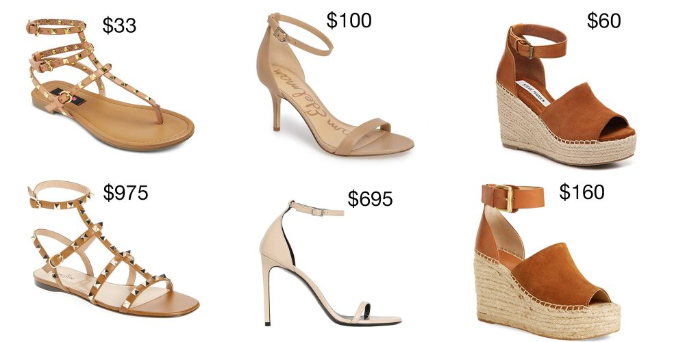 358c2ac14a253b Save vs Splurge Shoes  The best designer look-a-likes for summer ...