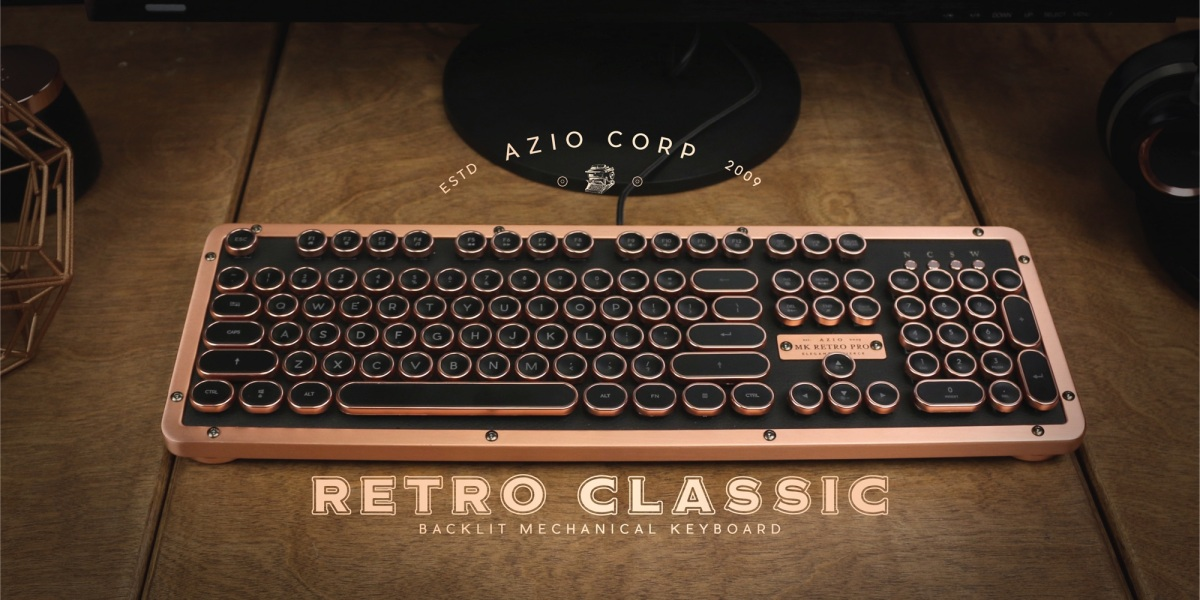 AZIO Retro Classic Posh Mechanical Keyboard