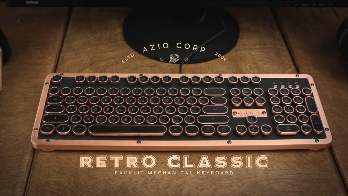 AZIO Retro Classic Posh Mechanical Keyboard