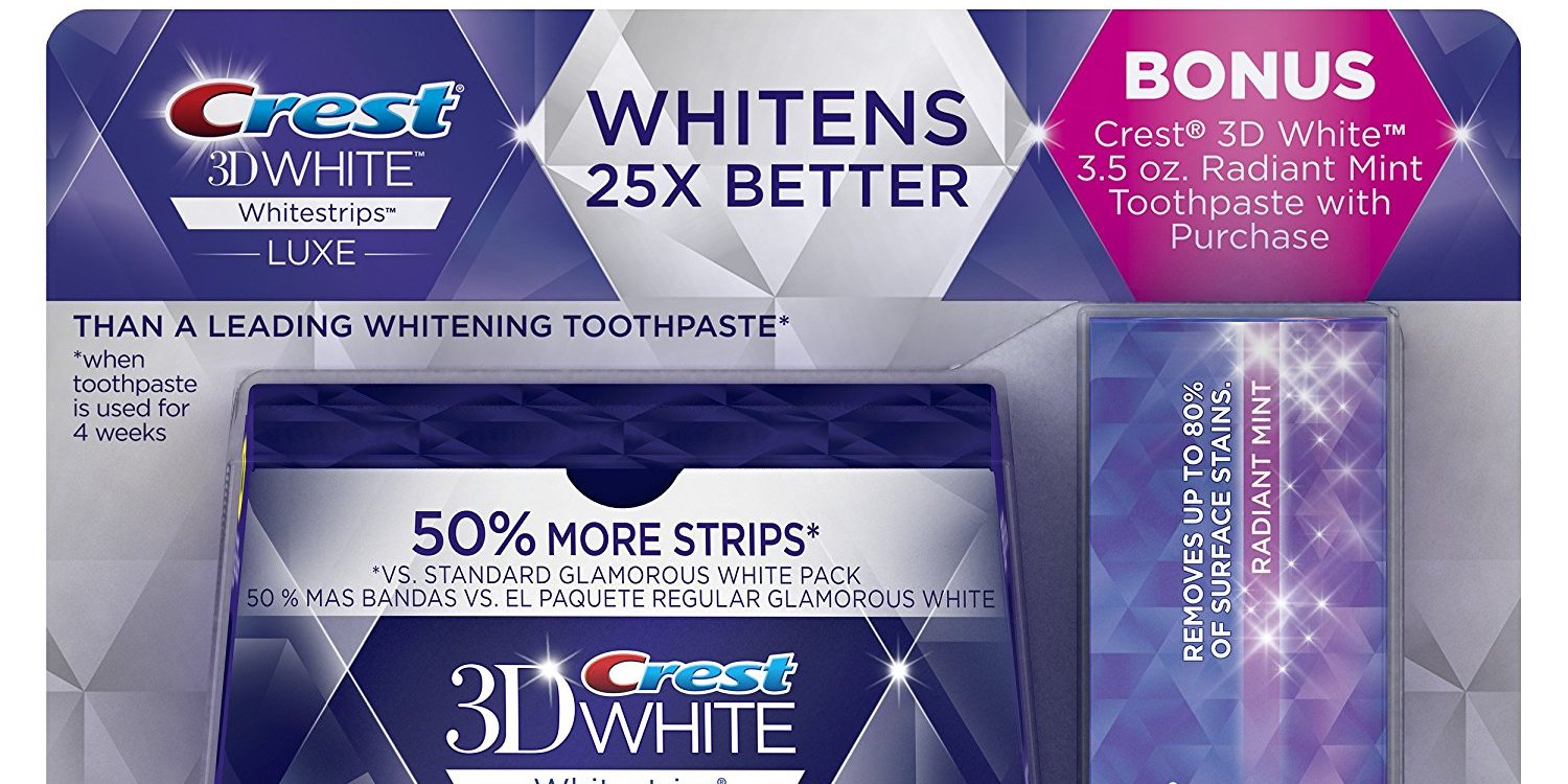 Crest 3d Luxe Whitestrips Dental Kit For 27 50 Shipped 35