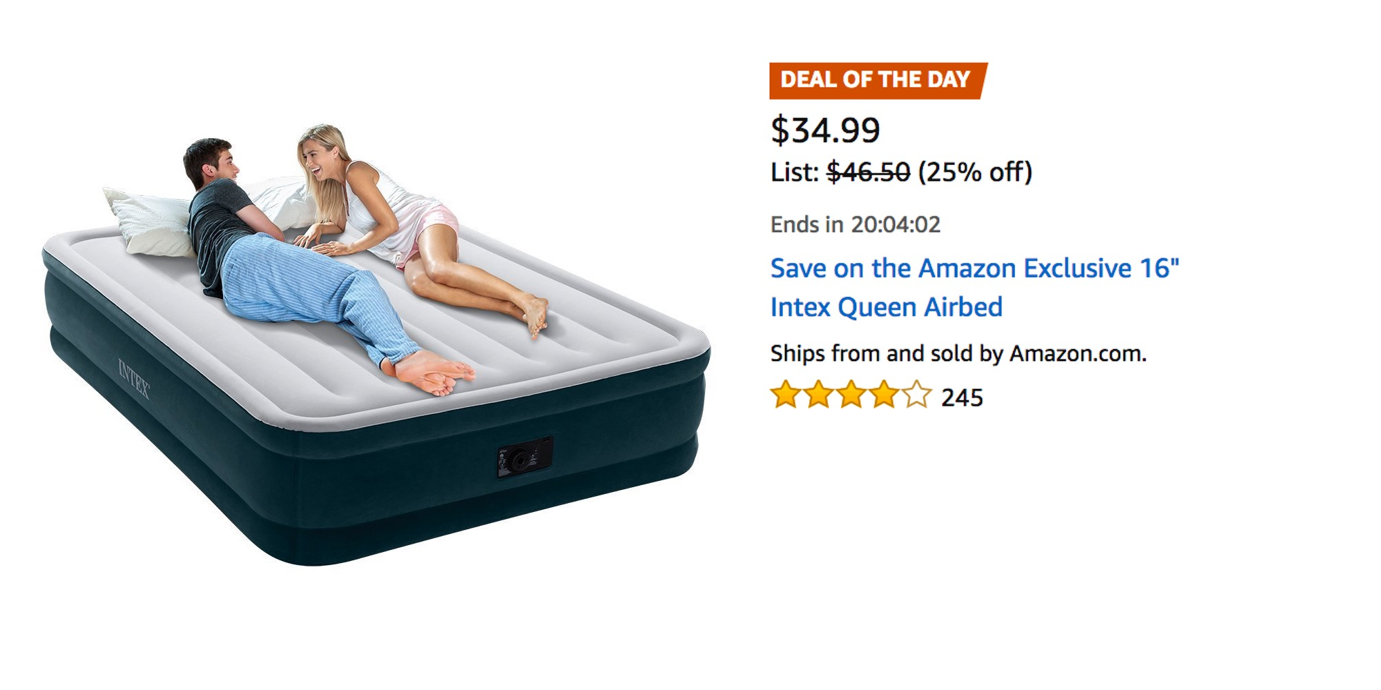 Intex Queen Sized Self Inflating Air Mattress 35 Prime
