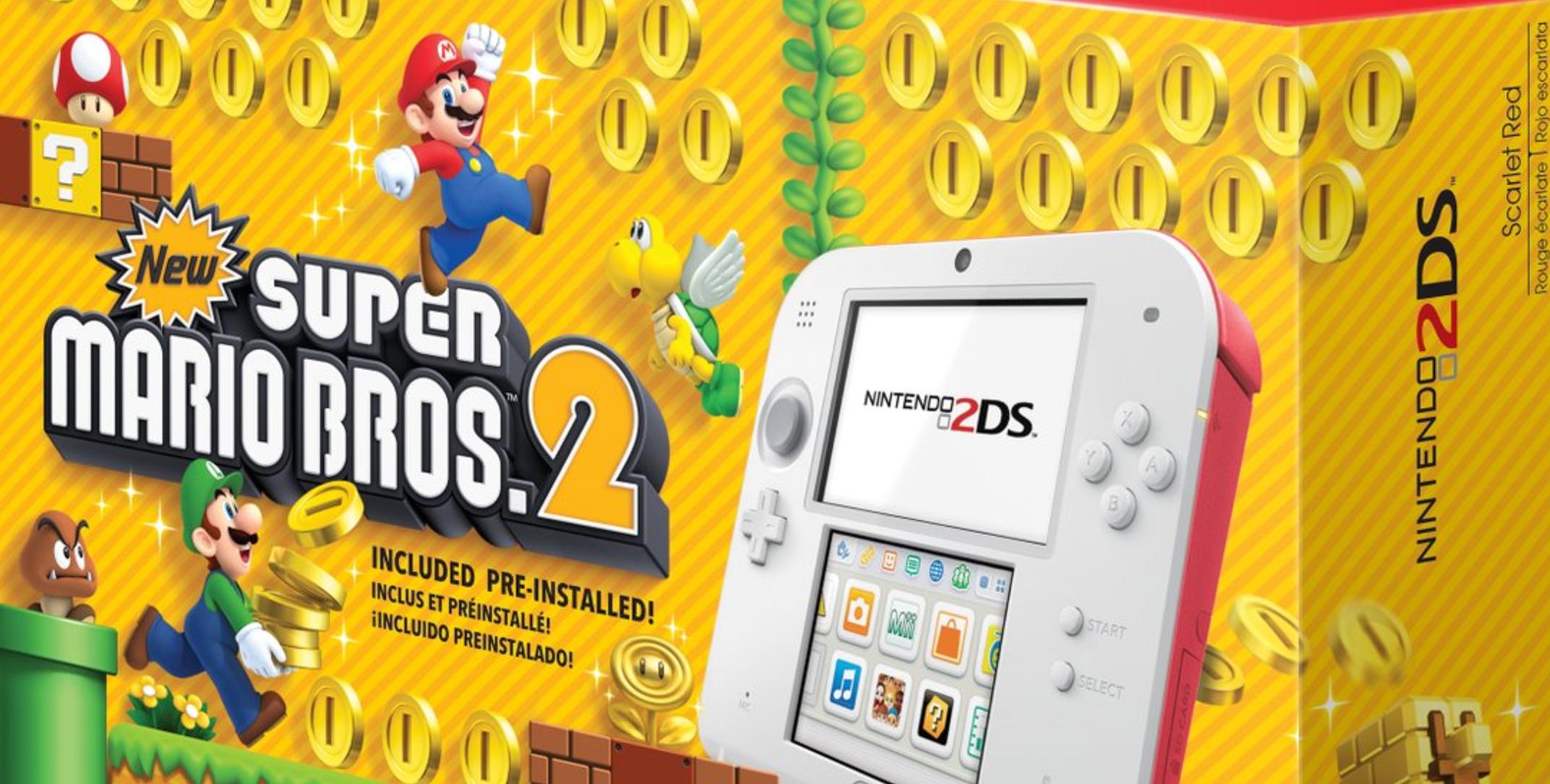 Nintendo Announces 2ds Super Mario Bros 2 Console Bundle Hits Next Switch Red Blue 2games 2amiibo Now