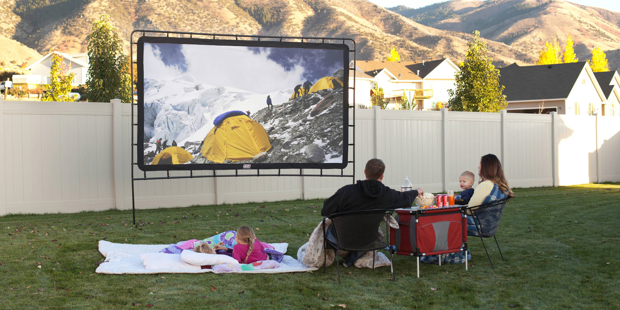 Camp Chef 144-inch Indoor/Outdoor HD Movie Screen for $129 (Reg. $180+)