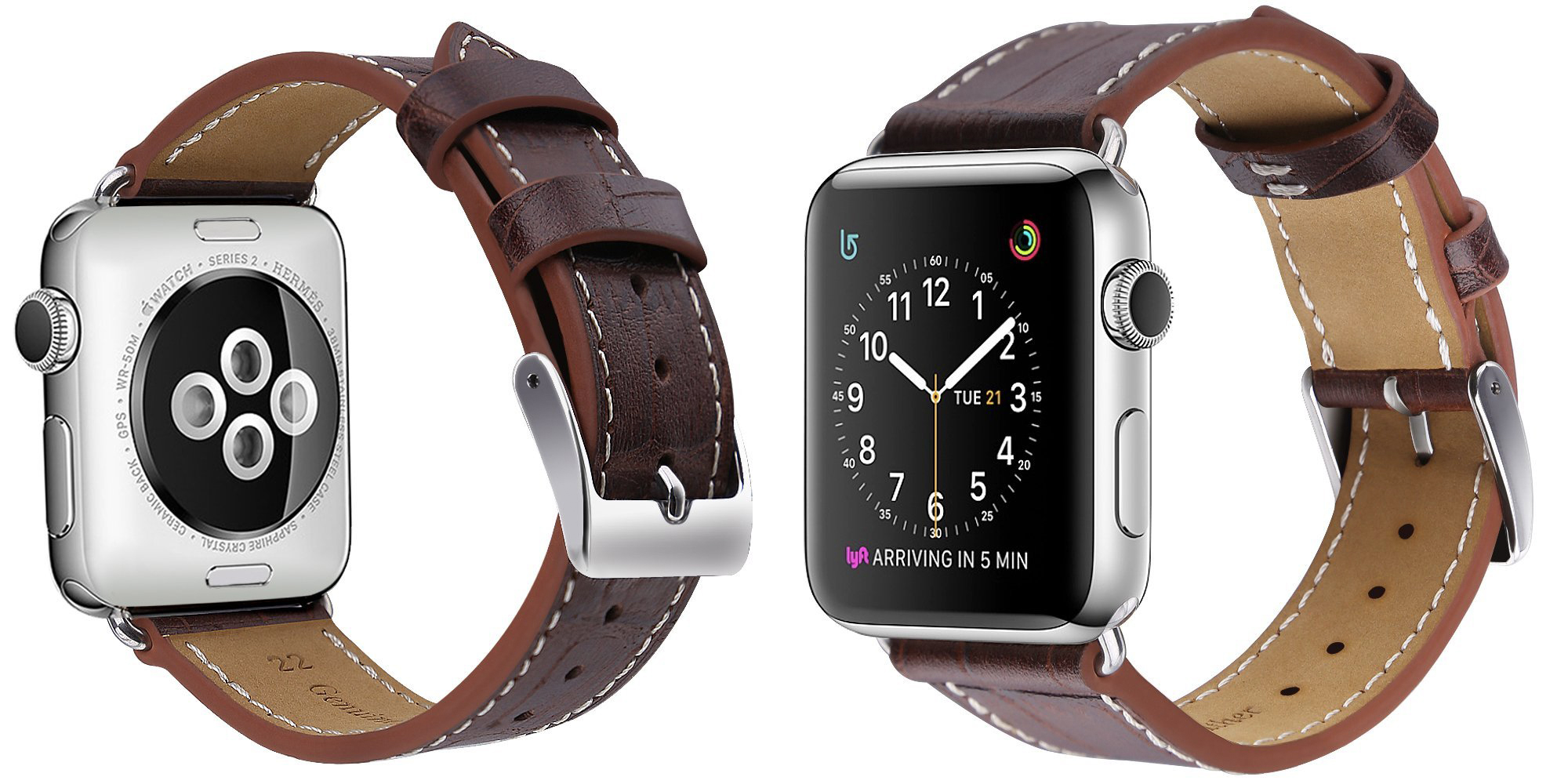Grab a new $5 leather Apple Watch band in multiple sizes and colors