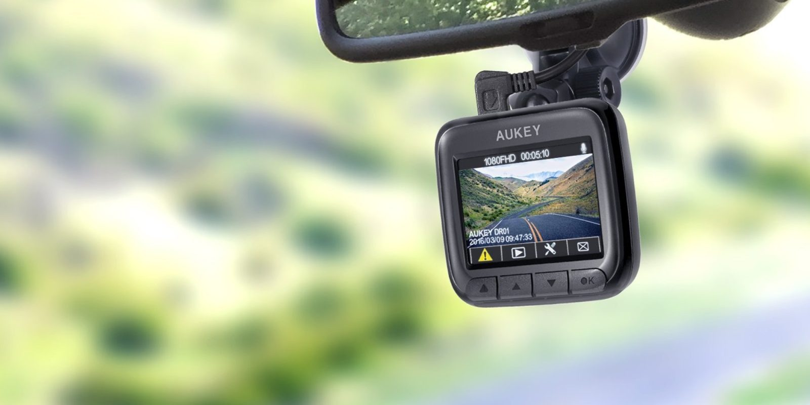 Aukey 1080p Dash Cam w/ Night vision for $50 shipped (Reg. $70)