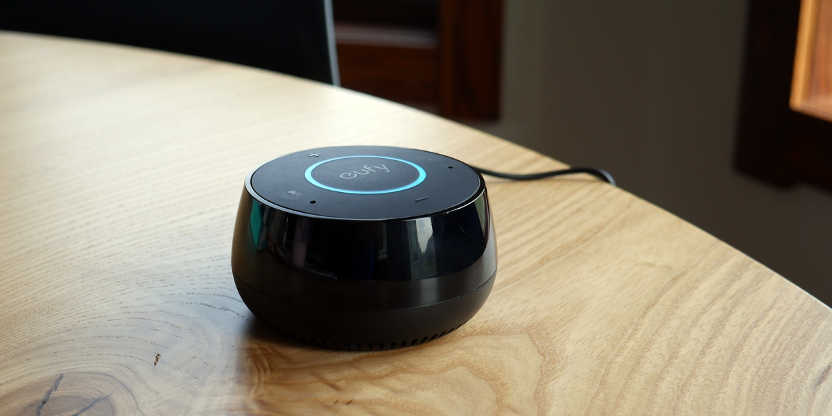 Eufy Alexa speaker in kitchen