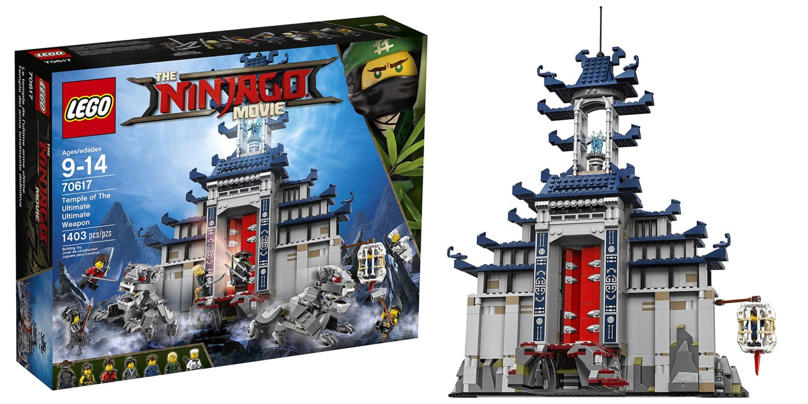 lego ninjago temple of the ultimate weapon kit for 80