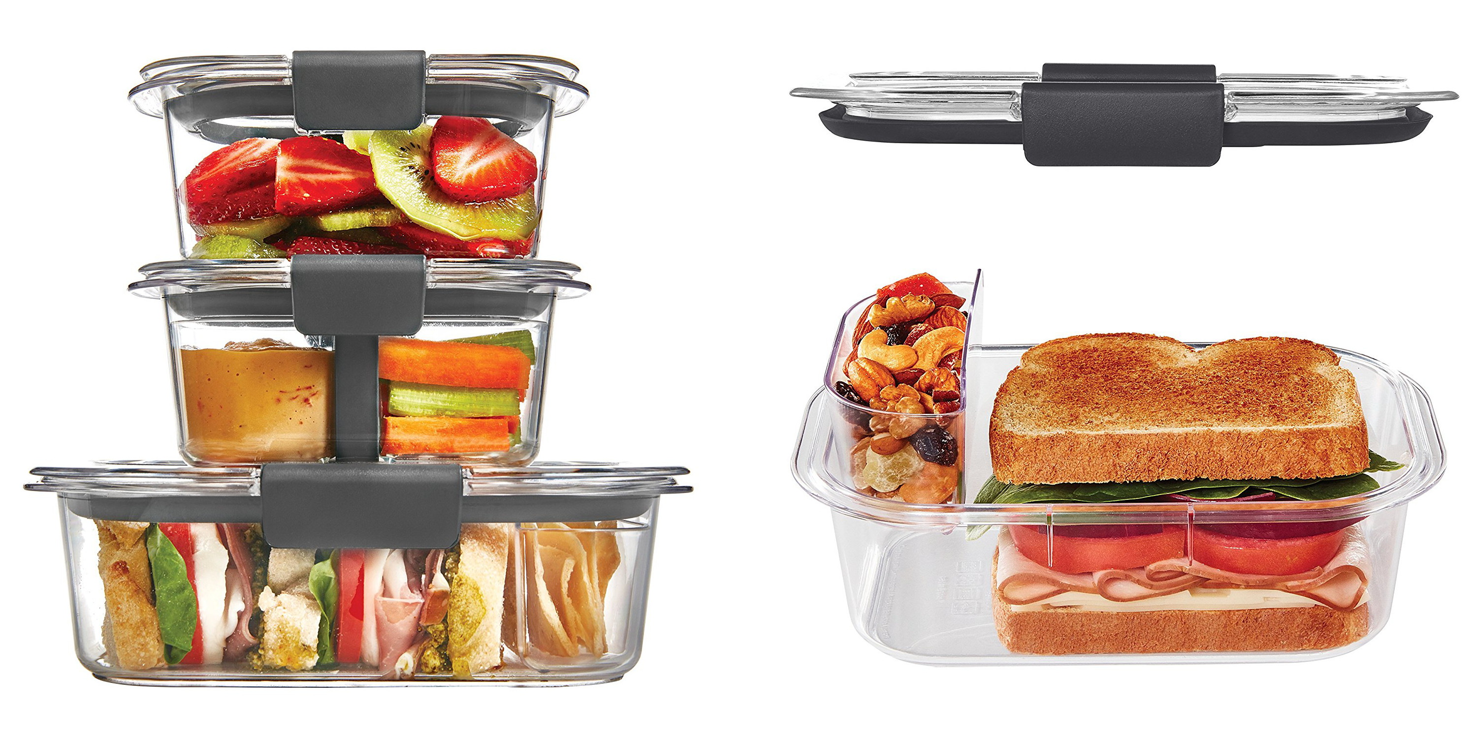 Rubbermaids Brilliance Lunch Container Kit drops to 14 Prime
