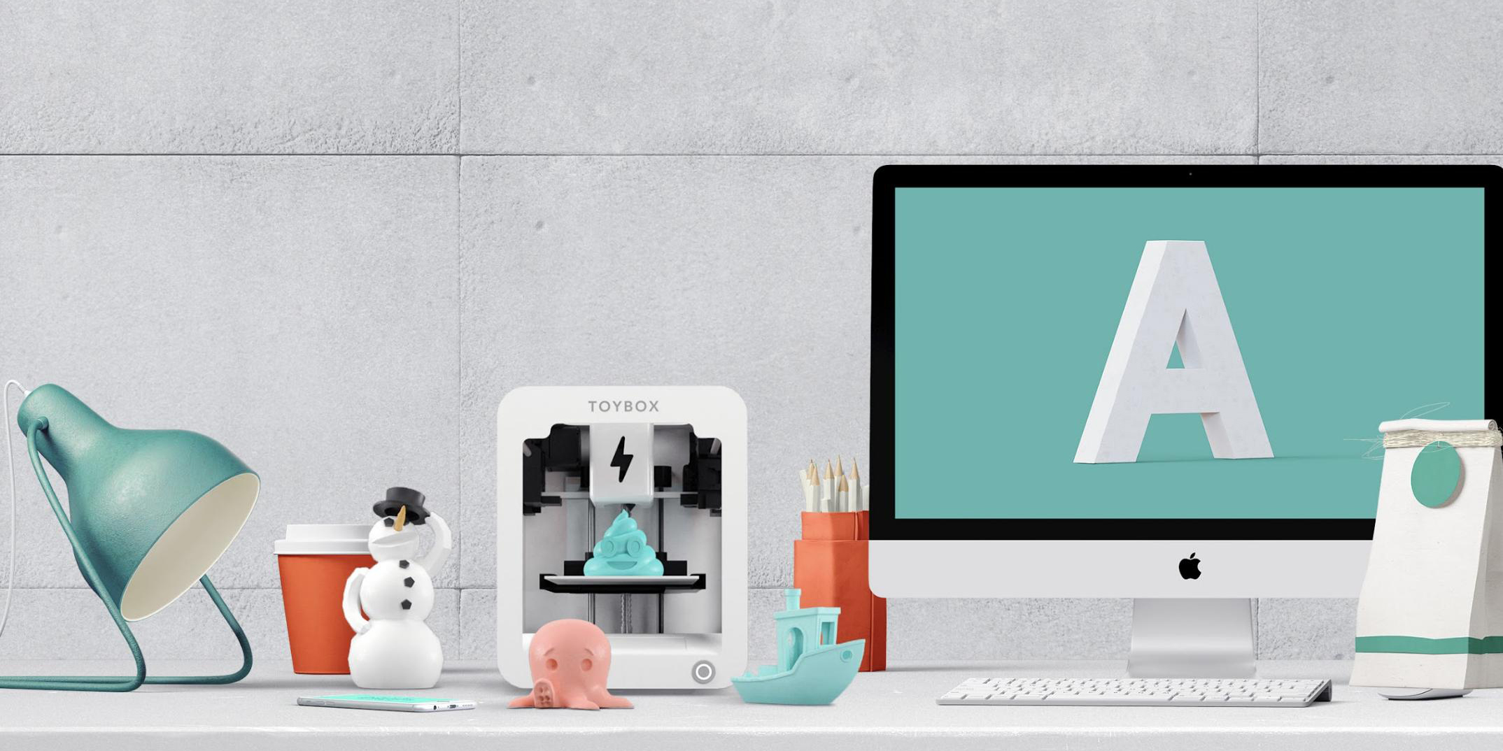 Toybox is an affordable iPhone & Android-driven 3D printer designed for kids