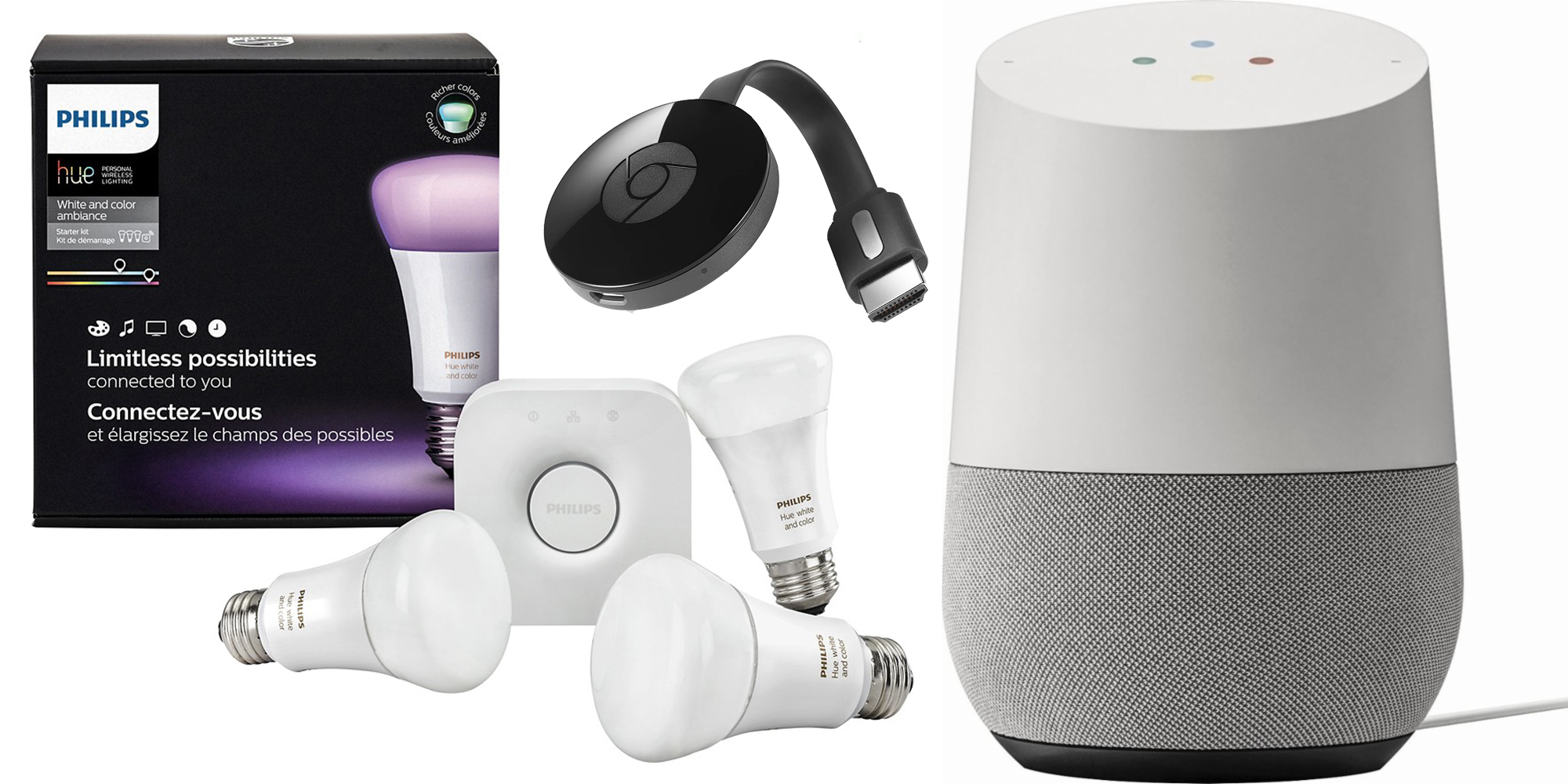 Google Home Starter Kit w/ Philips Hue + Chromecast for $209