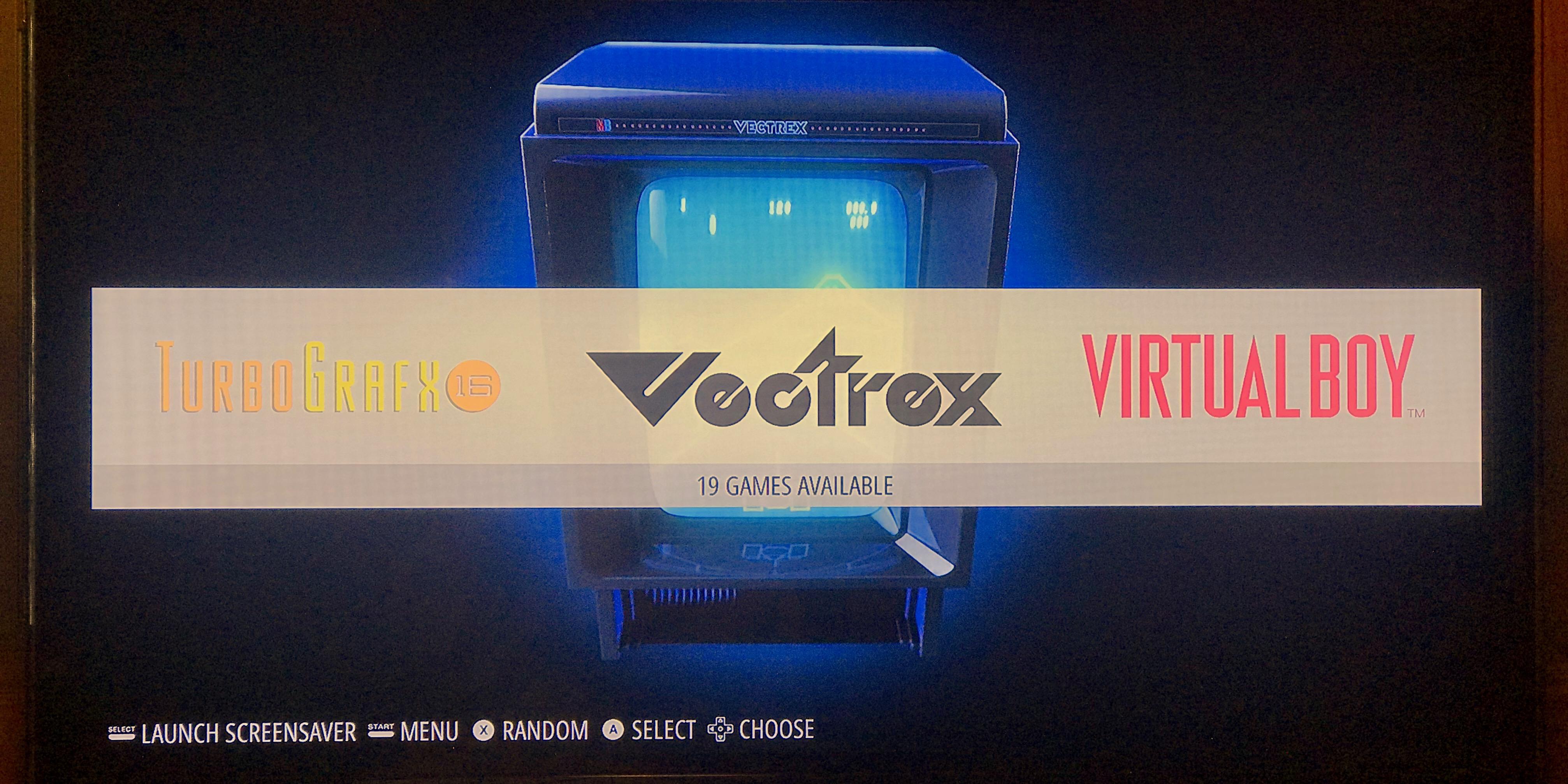 Emulation Station RetroPie Vectrex