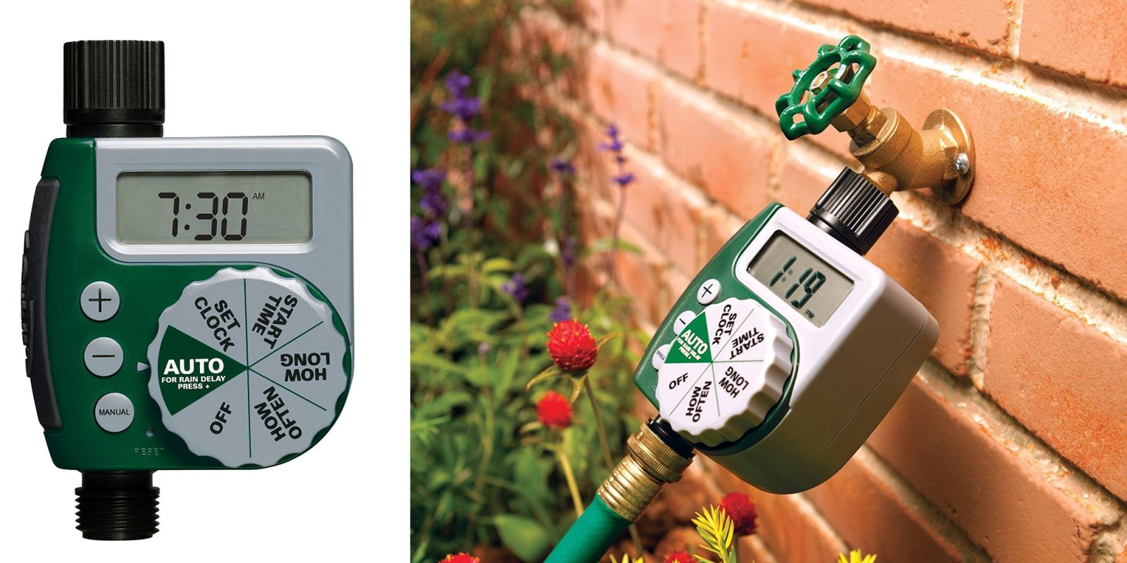 Water your lawn easily with this programmable hose faucet timer for $20