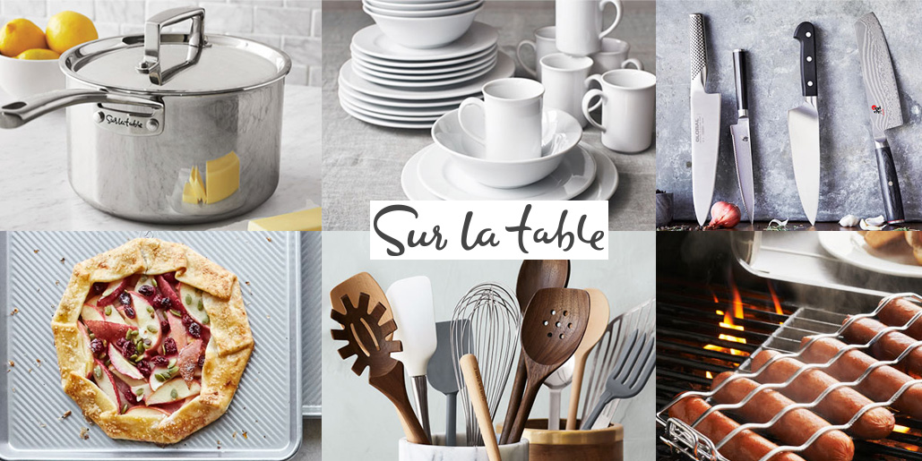 Sur la Table takes 20% off your purchase to update your dinnerware, kitchen pans & more