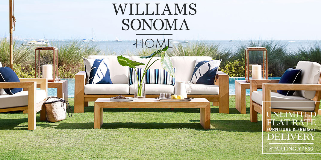 Williams Sonoma Event: up to 30% off bed & bath + up to 50% off outdoor - Williams Sonoma Event: Up To 30% Off Bed & Bath + Up To 50% Off