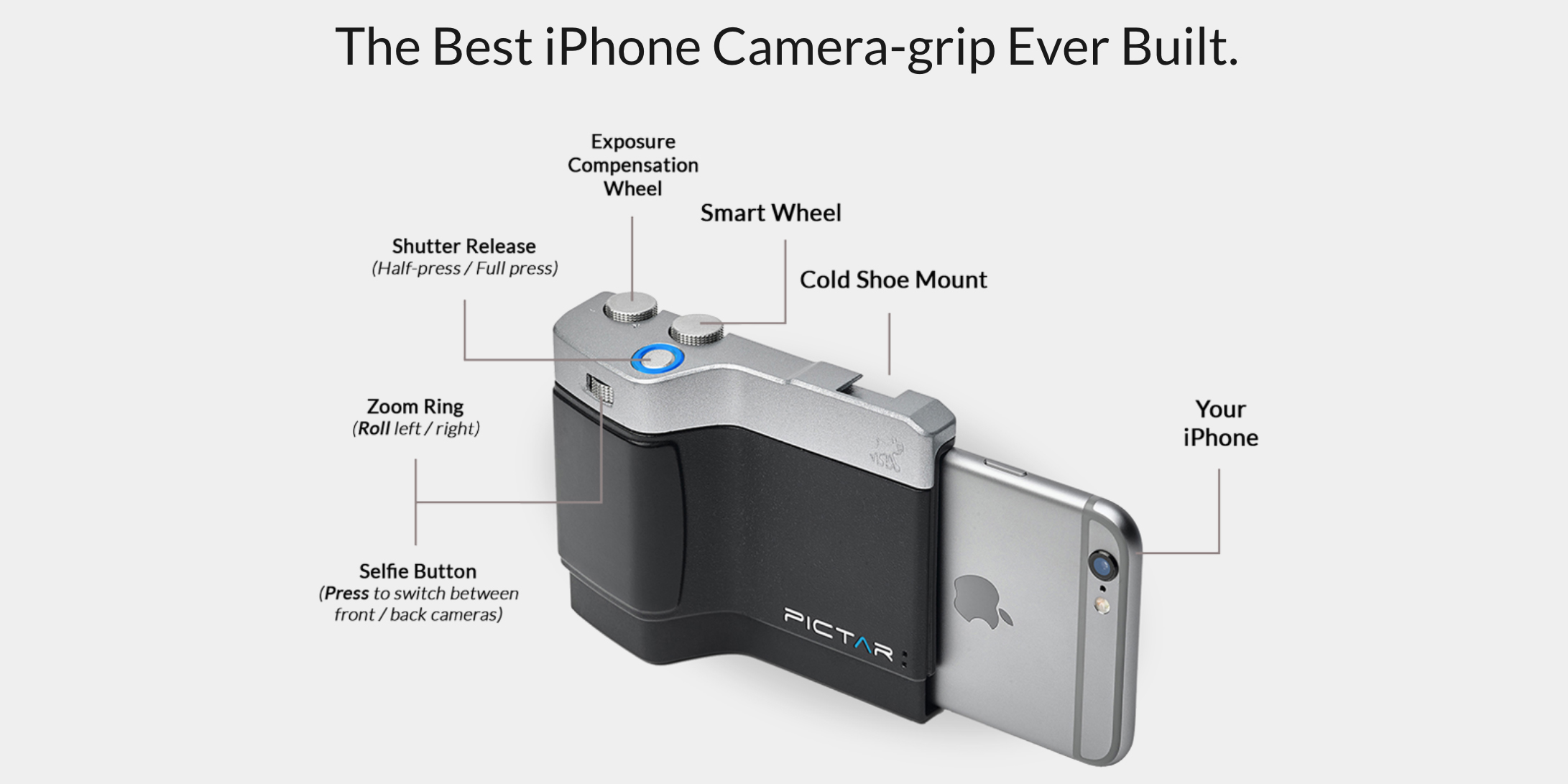 Outfit your iPhone with DSLR controls: Miggo Pictar Camera Grip $65 (Cert. Refurb)