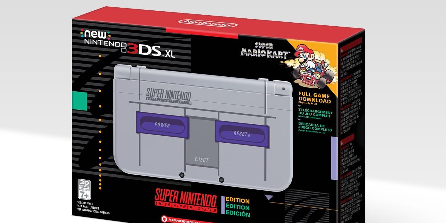 New Nintendo 3DS XL SNES Edition at $110 (GameStop Refurb, Orig. $200) + more from $80