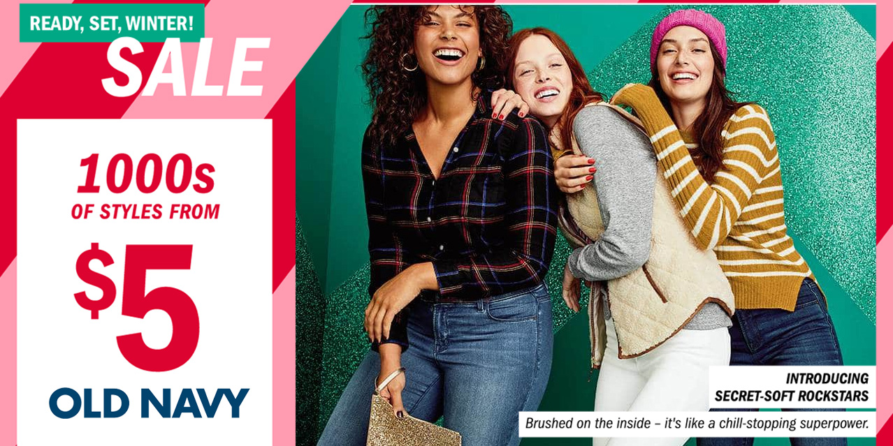 Old Navy Ready, Set, Winter Sale has 1,000 styles from just $5 ...