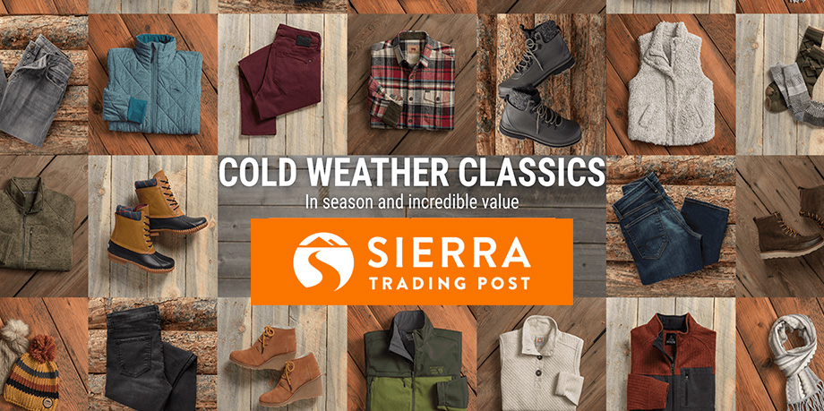Sierra Trading Post offers boots & jackets from $40 + free shipping: North Face, Columbia & more