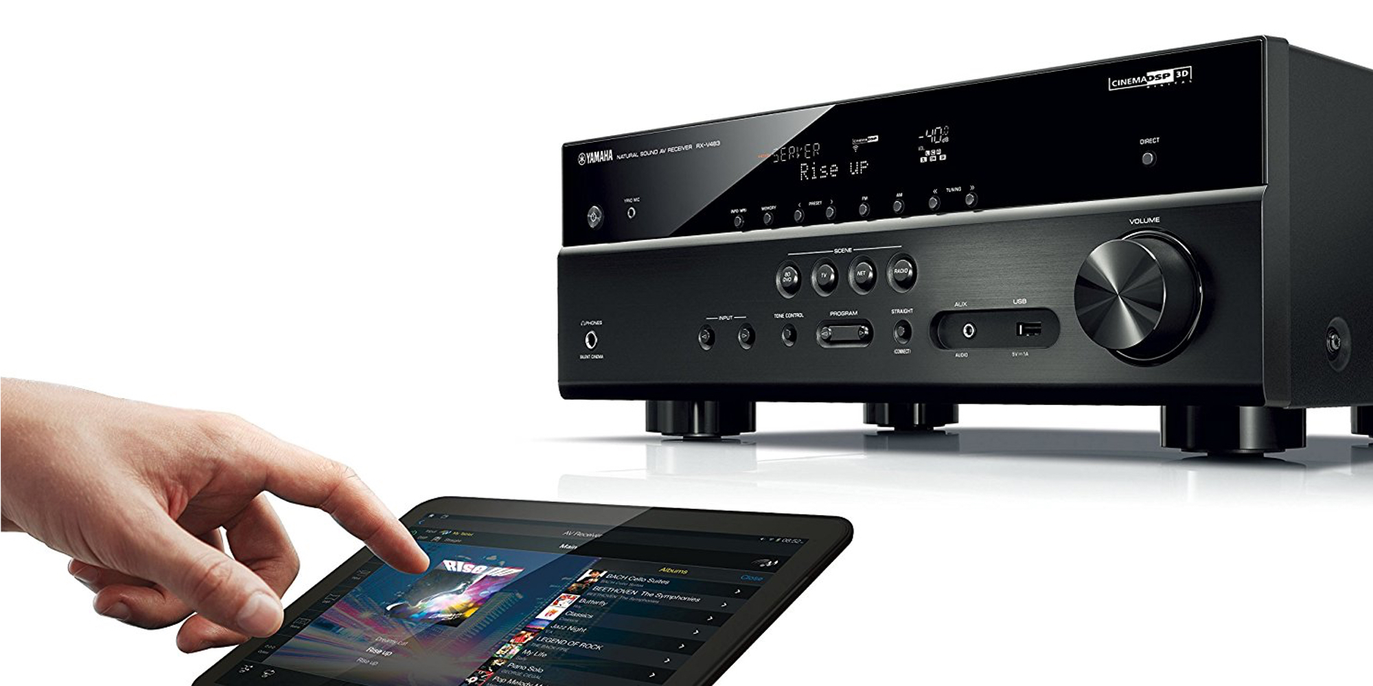 yamaha 5 1 ch 4k a v receiver w airplay support for 330. Black Bedroom Furniture Sets. Home Design Ideas