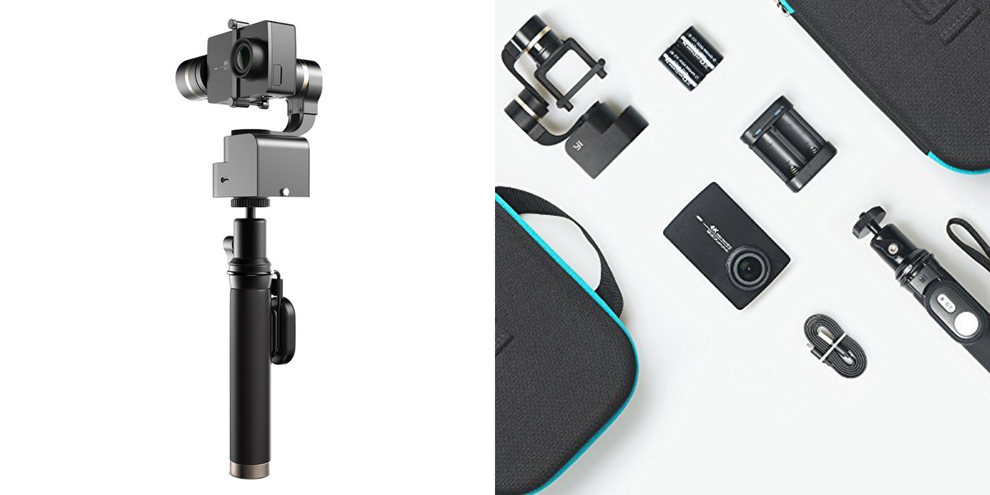 Start capturing smooth 4K video with the $280 YI Action Cam & Gimbal Bundle ($100 off)