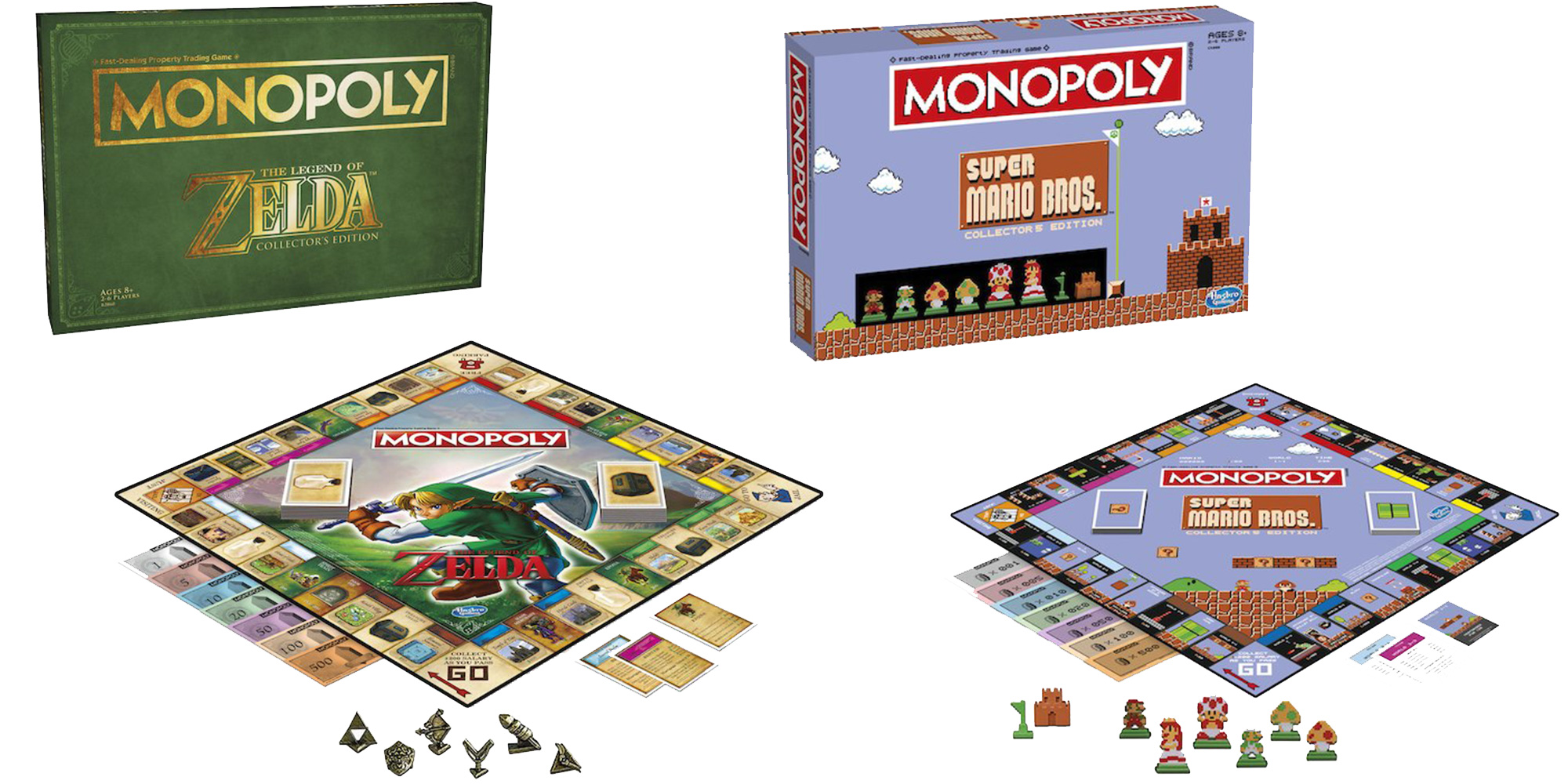 nintendo 39 s officially licensed monopoly zelda and mario games drop to 20 9to5toys. Black Bedroom Furniture Sets. Home Design Ideas