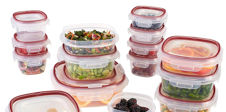 Upgrade Your Food Storage W/ Rubbermaidu0027s 34 Piece Lock Its Set For $21