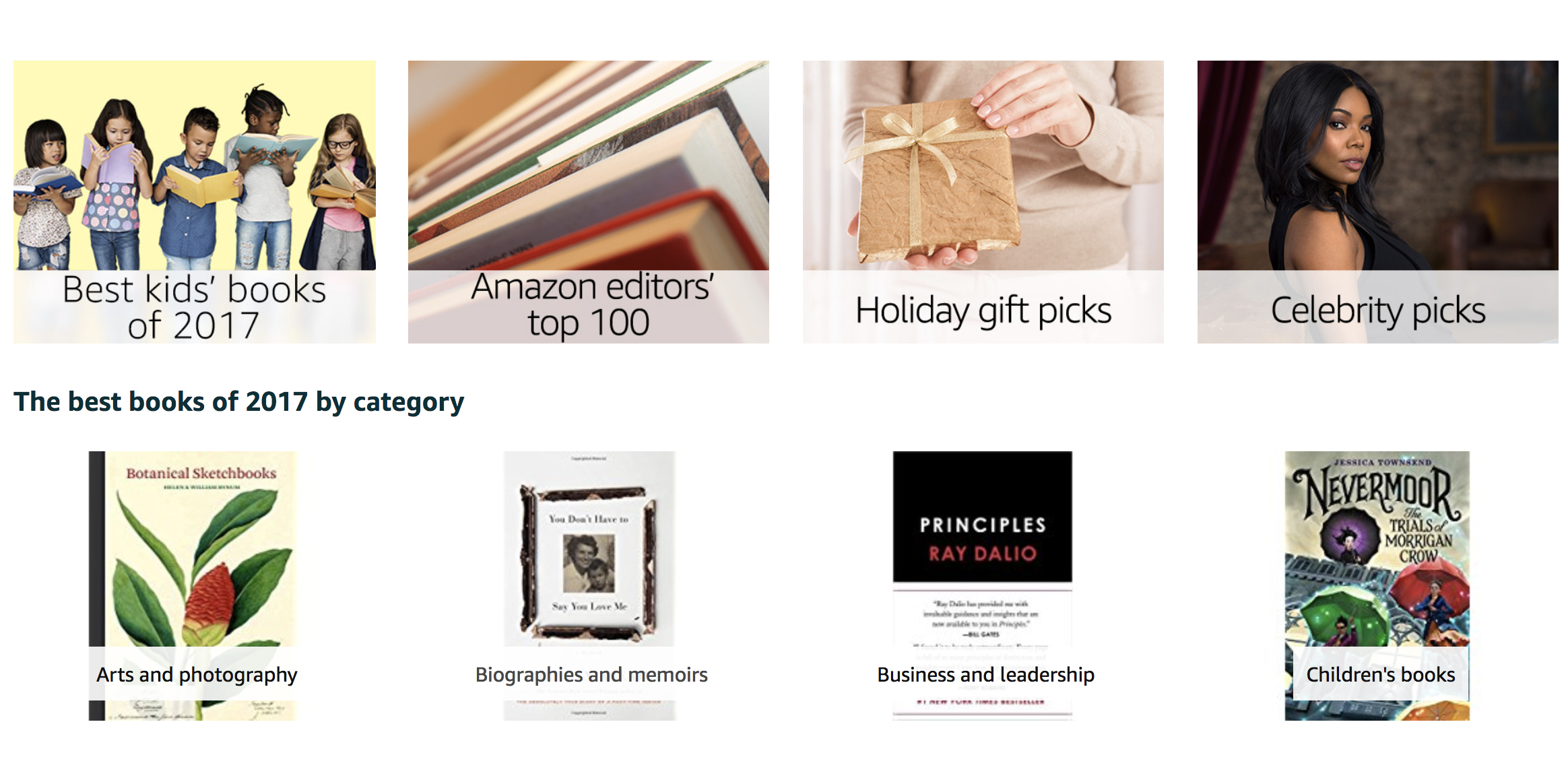 Amazon releases its Best Books of 2017 list with great gift ideas, curated guides, more