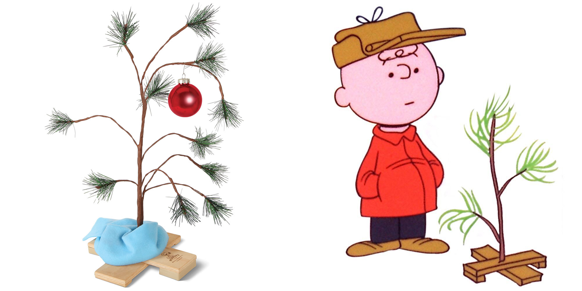 this 24 inch charlie brown christmas tree w blanket needs your love rh 9to5toys com charlie brown christmas clip art free charlie brown christmas tree free clipart