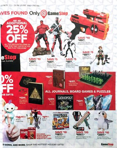 Gamestop Black Friday 2017 Ad Ps4 Pro Xbox One Games From - gamestop roblox robux