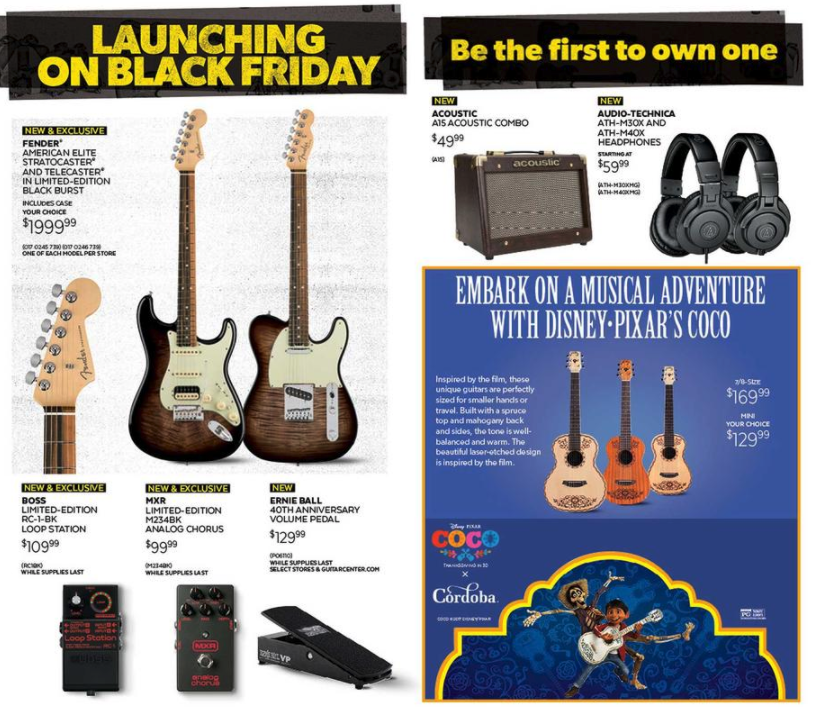 Guitar Center Black Friday 2017 Ad Midi Controllers Guitar Accessories More 9to5toys
