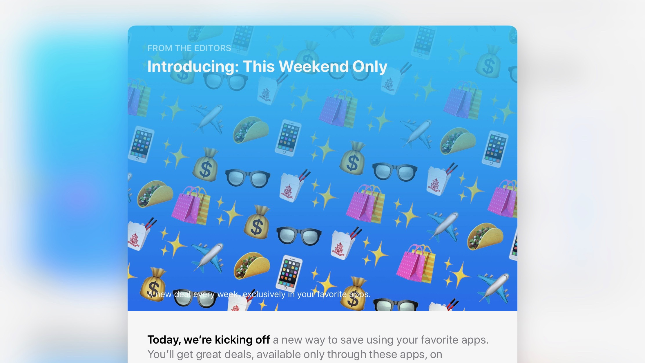 Apple's new 'This Weekend Only' promo offers in-app deals from HotelTonight, Chipotle, more