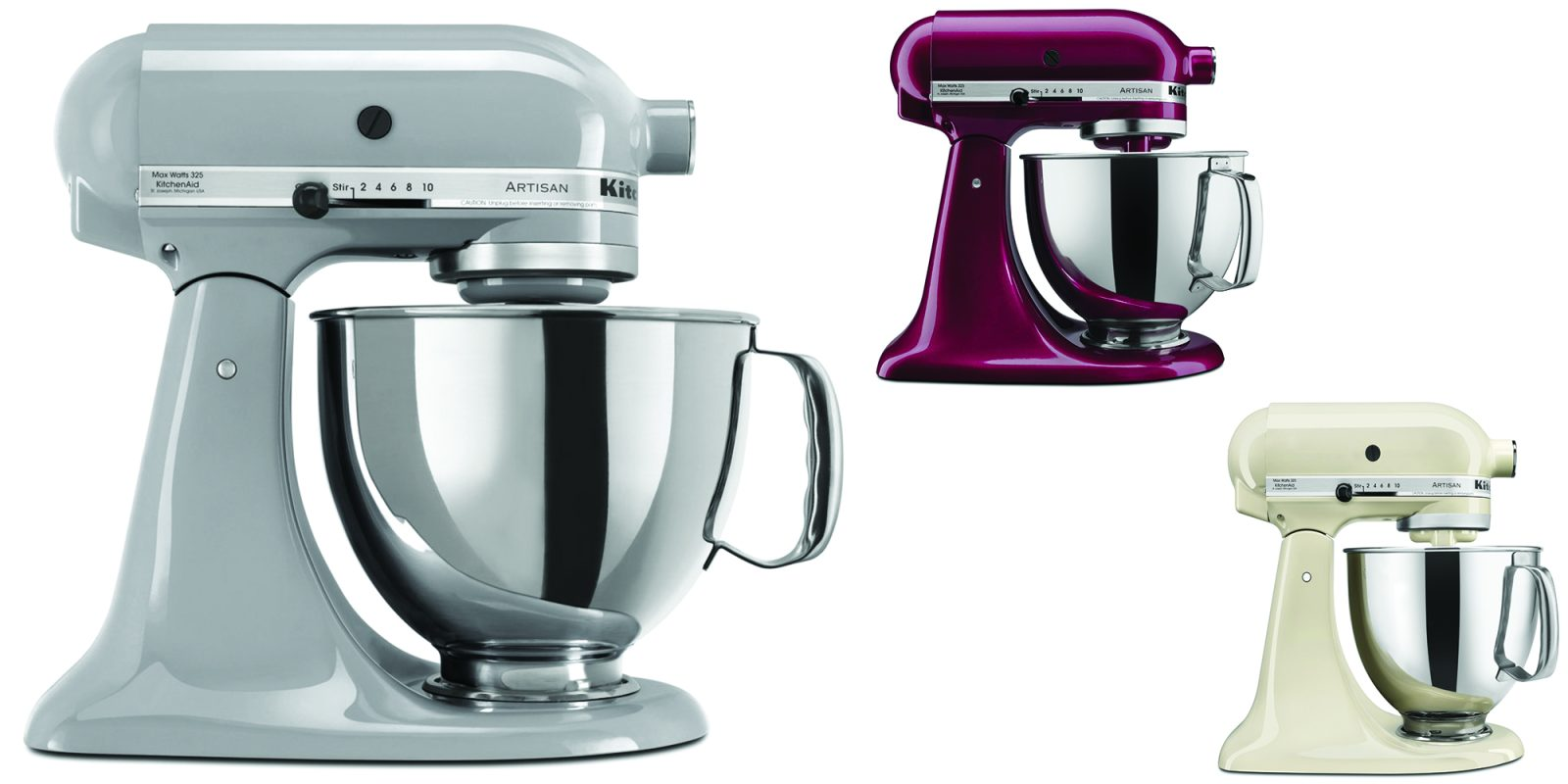 kitchenaid artisan series 5 qt mixers drop to 224 for black friday 9to5toys. Black Bedroom Furniture Sets. Home Design Ideas