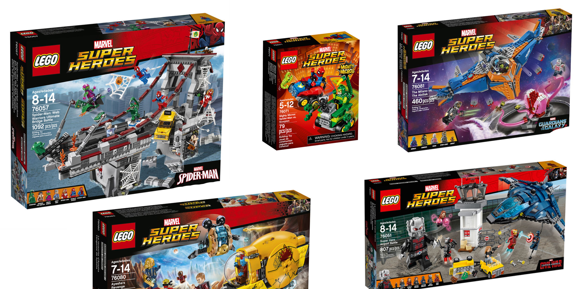 save 30 on select lego marvel super hero sets from 7
