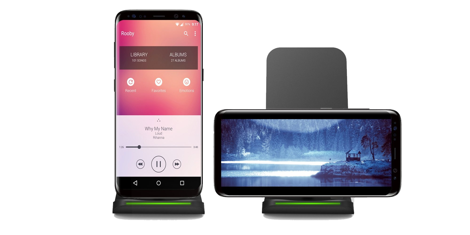 Wirelessly charge a Galaxy S8 or iPhone 8/Plus/X next to your bed for $14 (Reg. $20)