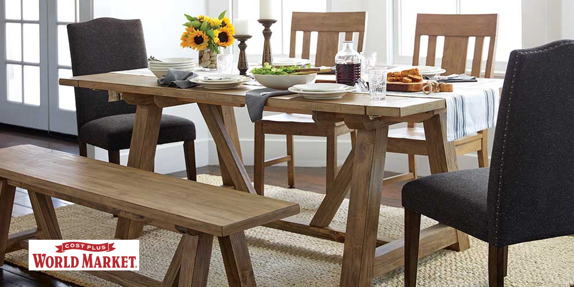 World Market's Dining Event takes 30% off all furniture with deals from $56: tables, chairs, more