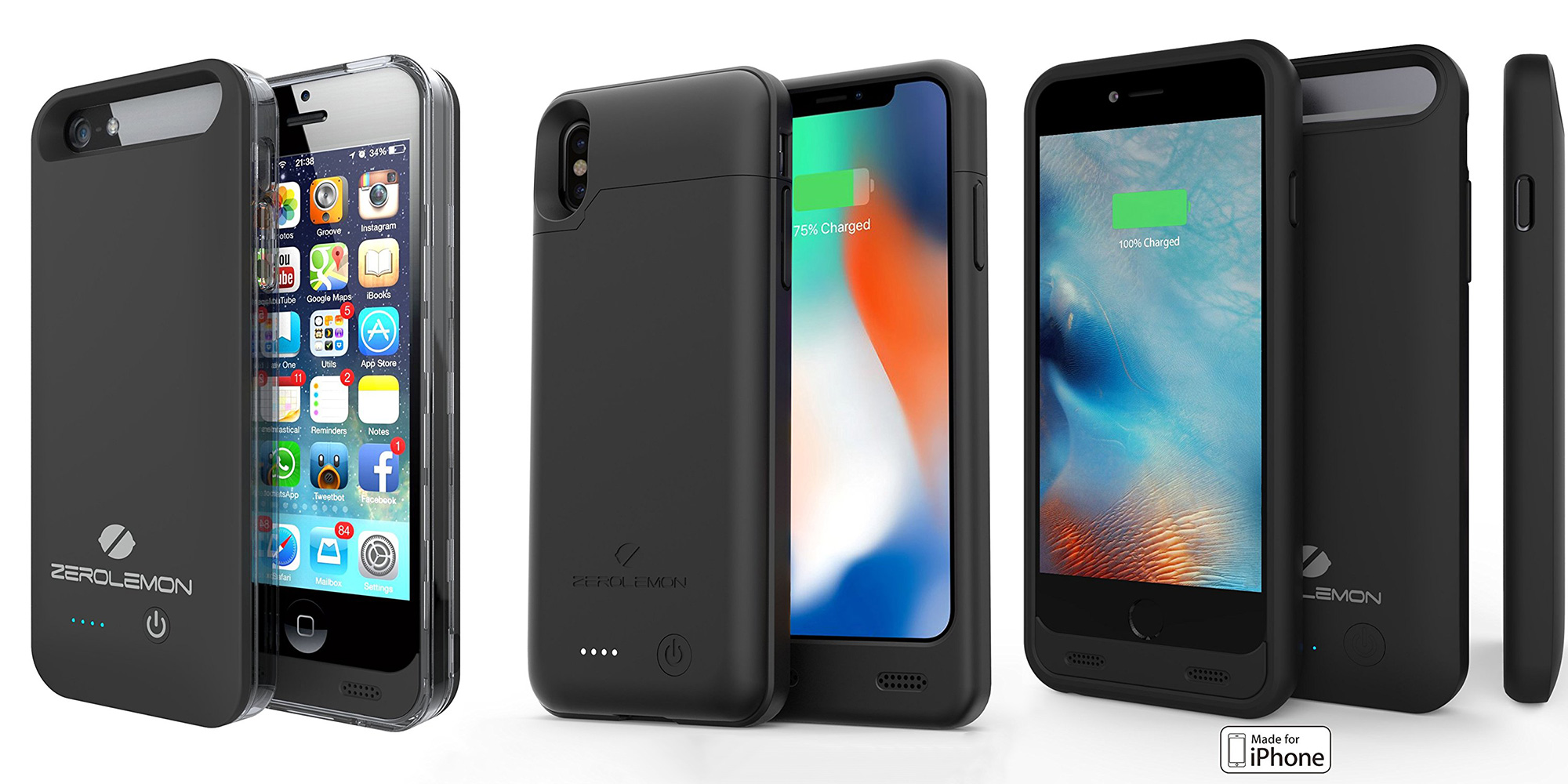 best cheap 8d5b9 8011e ZeroLemon MFi battery case for iPhone X drops to $30, 6/5/s from $9 ...
