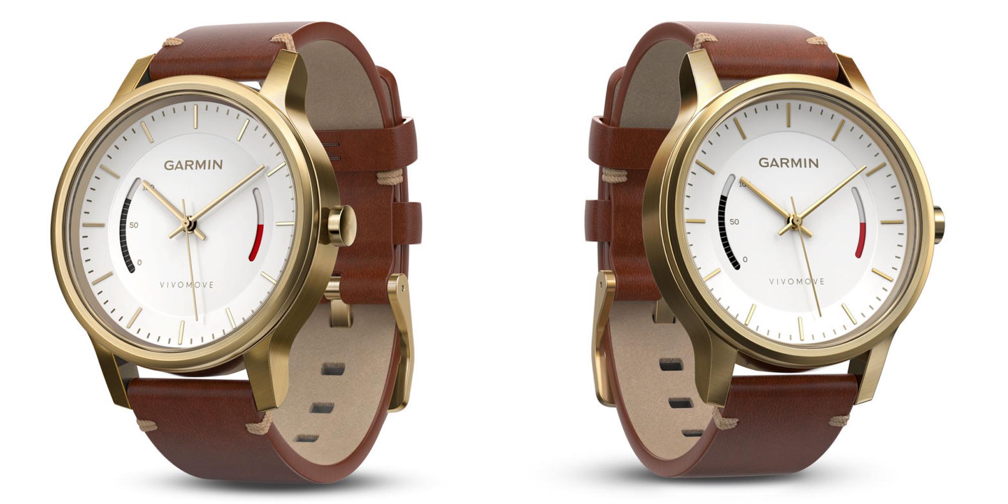 Garmin Vivomove Premium Activity Tracker with leather band drops to $70 (Reg. $200)