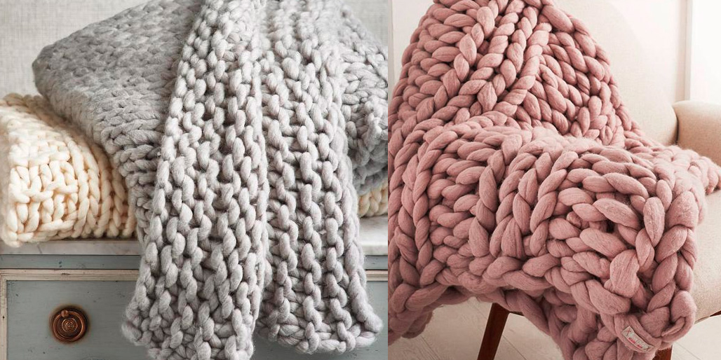 knit throw blanket Hand knit throw blankets are all the trend and we're sharing where  knit throw blanket