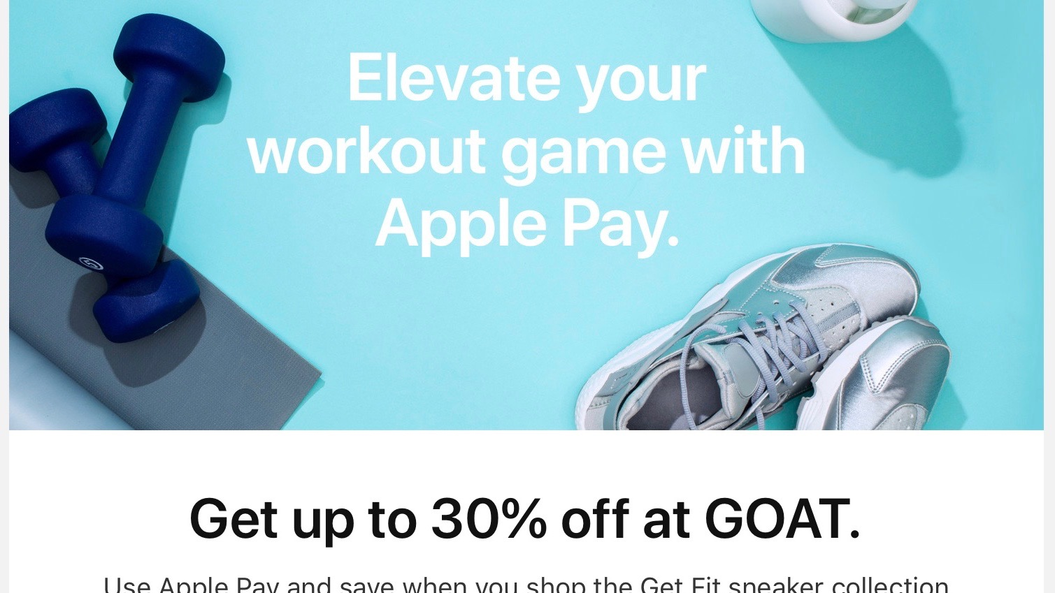 Apple Pay promotion brings up to 30% off sneakers through