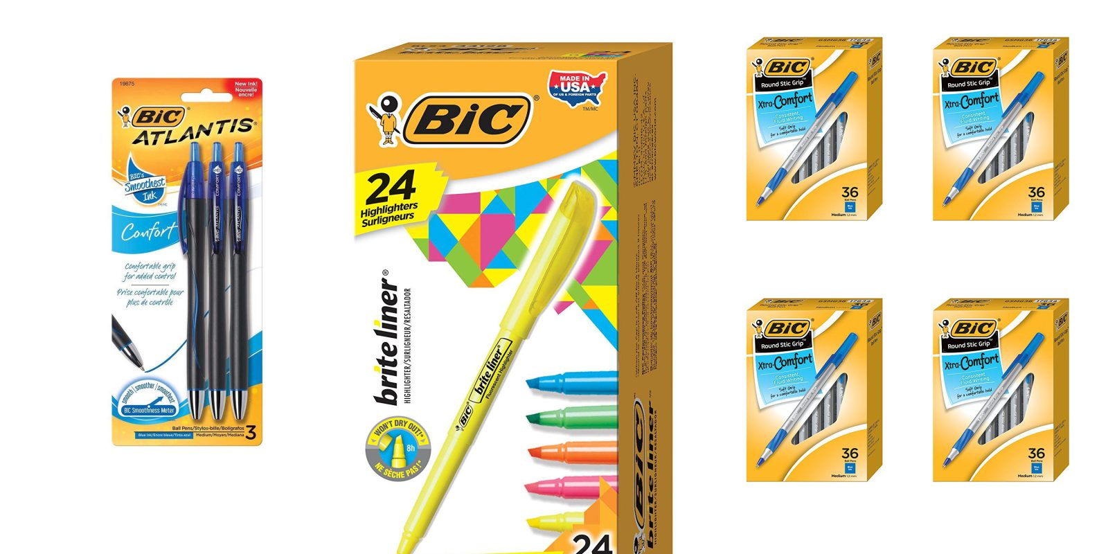 1 Day Office Supply Up To 40 Off 144 Pack Bic Pens 6 50 More