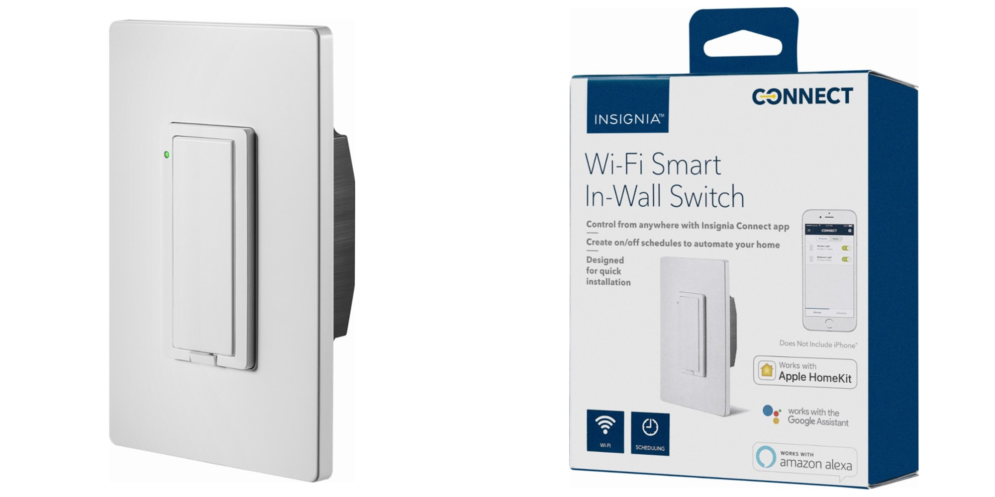 Insignia's HomeKit In-Wall Light Switch drops to $25 shipped (Reg. $40)