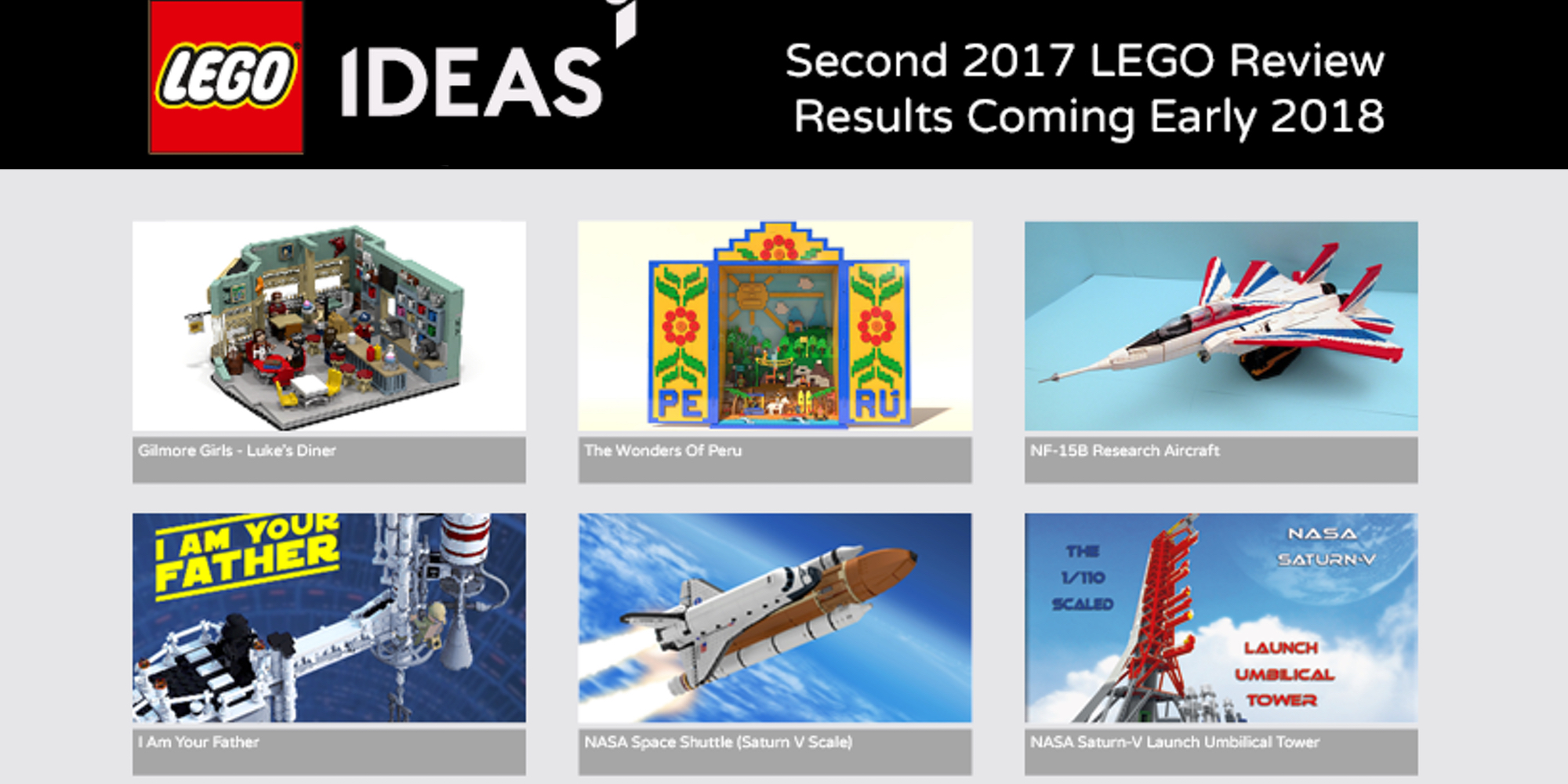 LEGO Ideas announces second half of 2017 results, with an unexpected outcome
